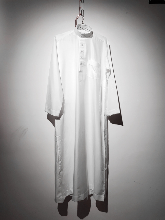White Color Men S Qatari Thoub