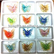 Art Lampwork Colgante de cristal de la mariposa con solo color