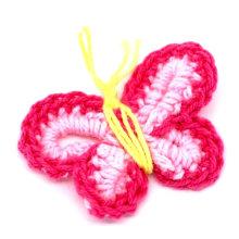Фуксия ручной вязание крючком бабочка аппликаций скрапбукинга цветов
