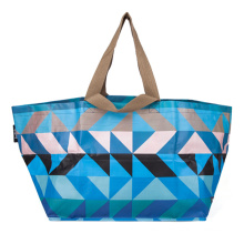 Promotional Custom Design Multicolor Grocery Packaging PP Woven Laminated Plastic Shopping Tote Bag