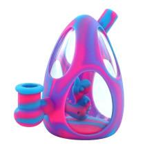 Dab rigs dinosaur ,egg water pipe glass bong hookah silicone bongs use for smoking MOQ=10pcs