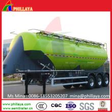 3 Achs Aluminium Weizen Mehl Silo Tank Zement Bulker Trailer