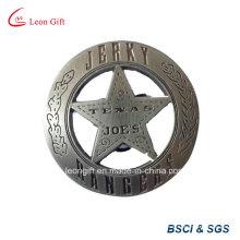 Promotion saccadé Logo Design personnalisé militaire étain Badge