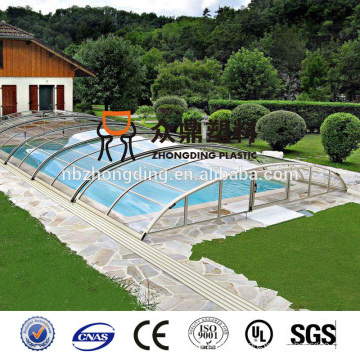 4mm/6mm/8mm/10mm/12mm/16mm blue twin wall hollow pc sheet swimming pool cover