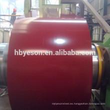 Bobina de acero gi / bobina de acero ppgi / bobina de acero galvanizada prepainted color