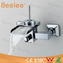 Robinet de douche de cascade de bâti de mur avec la poignée Qh0510-1W simple