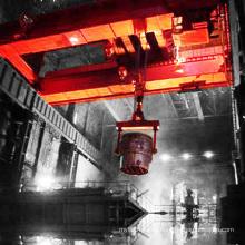 Grúa de puente de fábrica de acero para planta de fusión de acero