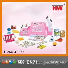 Hot Selling Plastic Pretend Play Brinquedo Cash Register Com Microfone