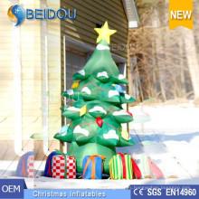 Decoración de árboles de Navidad de iluminación gigante de encargo Árbol de Navidad inflable