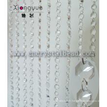 Gros cristal octogone perlé porte Rideau pour décoration