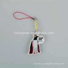 Único pingüino en forma impresa teléfono móvil de pantalla limpiador