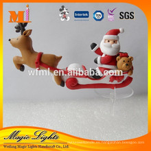 Mini decoración de Navidad Santa Claus Sleigh