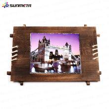 Sublimation wooden Rocks wooden Photo frame stone slates