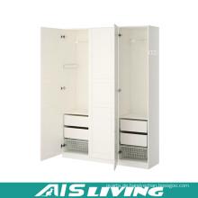 Weiße klassische Sperrholz Schlafzimmer Kleiderschrank (AIS-W264)