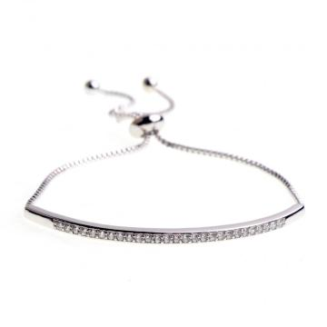 Pulsera de Diamante Artificial de Acero Inoxidable para Mujeres