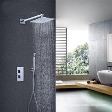 Alças de alta qualidade com punho misturador de duche de válvula termostática dissimulada Torneira termostática quadrada