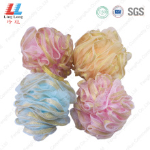 Loofah ribbon mesh sponge cleaner bath ball