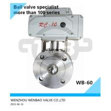 AISI304 Vanne à boisseau sphérique motorisée Dn40 Pn16