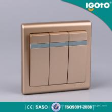 Igoto E9031 3 Gang 1 Way Britischer elektrischer Wandschalter