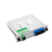 Epon gpon acoplador óptico FTTh 1 * 4 fibra óptica Splitter PLC, 1x8 LGX Box Cassette Card Inserção PLC splitter