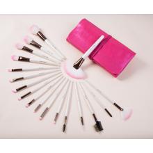 Dreammaker PU Leather Pink Bag 18PCS Makeup Brush