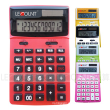 Calculadora de escritorio de doble dígito de 12 dígitos con pantalla LCD ajustable (LC227T-JP)