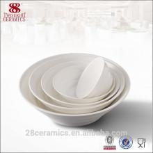 """Wholesale hôtel porcelaine porcelaine, 6 """"blanc chaozhou céramique pliable bol"""