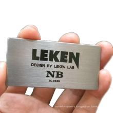 Custom engraved metal brushed nameplate anodized diamond cut aluminum name plate