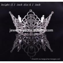 Accesorios al por mayor del pelo nupcial corona completa redonda del rey del baile de fin de curso