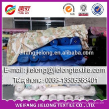 poly cotton plain dyed twill stock fabric