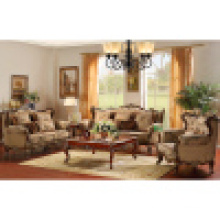 Wood Fabric Sofa with Side Table (D910B)