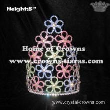 8inch Colored Flower Spring Pageant Crowns