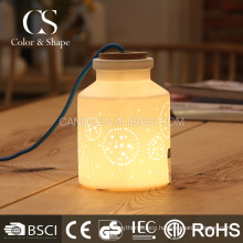 Magical bottle shape dandelion ceramic table lamp wholesale