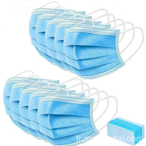 Masque jetable Earloop Face Mask 3 couches filtre protecteur