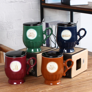 Colorful Retro footed mug