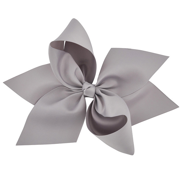 Ribbon Bow Gray