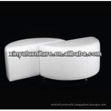 Round white wedding ottoman XW1022