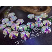 Hohe Qualität Ab Kristall Nähen auf Kleidersteine Runde Form (DZ-1041)