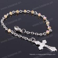 4mm Ab Шампанское плоские кристаллы бусы религиозный браслет