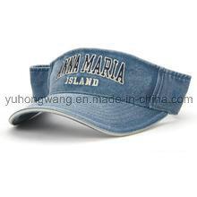 Gorra / visera de Sun del dril de algodón modificada para requisitos particulares, sombrero de Sun de los deportes