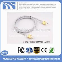 Золотой HDMI для hdmi кабеля для 1080p PS3 HDTV