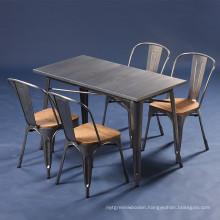 Wholesale Vintage Design Metal Cafe Industrial Dining Table (SP-CT676)