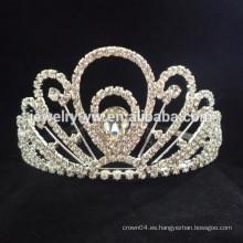 Accesorios del pelo de la boda corona cristalina completa de la venda de la flor