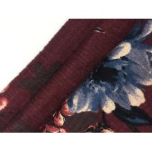 Трикотажная ткань с принтом из крепированного хлопка