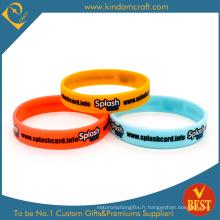 Bracelet en silicone en caoutchouc imprimé de haute qualité (LN-030)