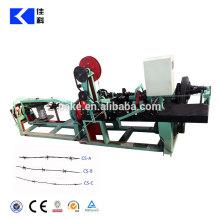 Arame farpado revestido de PVC galvanizado que faz a máquina