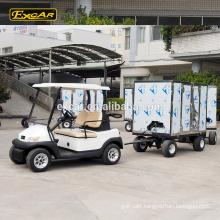 EXCAR 2 Seat electric golf car similar as club car 4 steel electric trailer