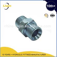 Steel Tube Connector hydraulic mele adapter/nipple
