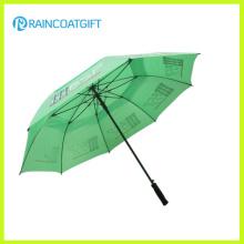 Windproof Vented Werbung Golf Regenschirm
