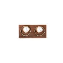 Présentoir à bijoux en bois Boucles d'oreilles en bois Porte-anneaux